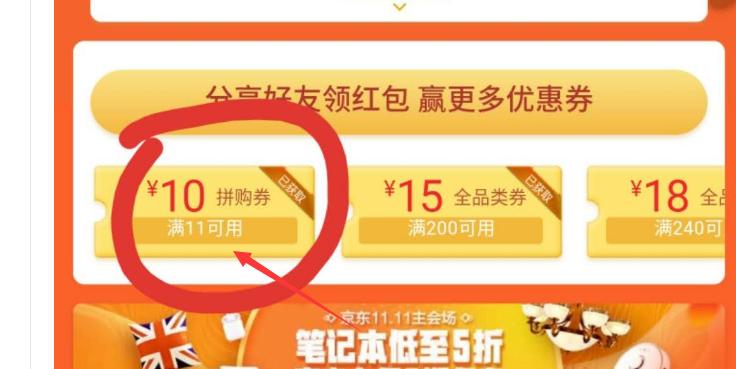 京东抽11-10券+6-5券撸实物